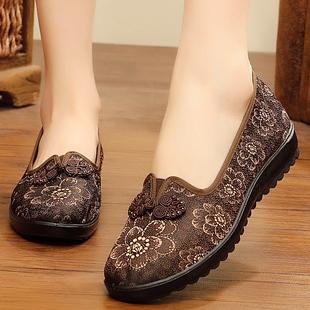 老北京布鞋女中老年妈妈平底老太太鞋老人大码软底鞋子奶奶春秋季