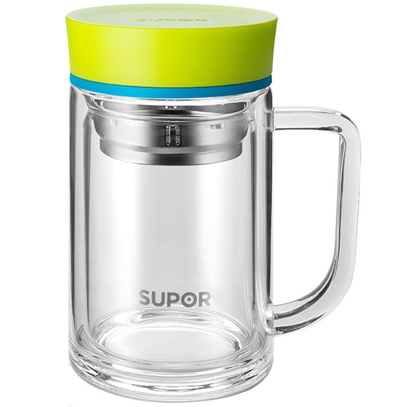 苏泊尔水杯玻璃杯杯茶水分离