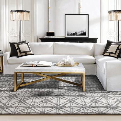 现代简约定制地毯色界轻奢素色肌理地毯北欧样板间卧室设计师地毯