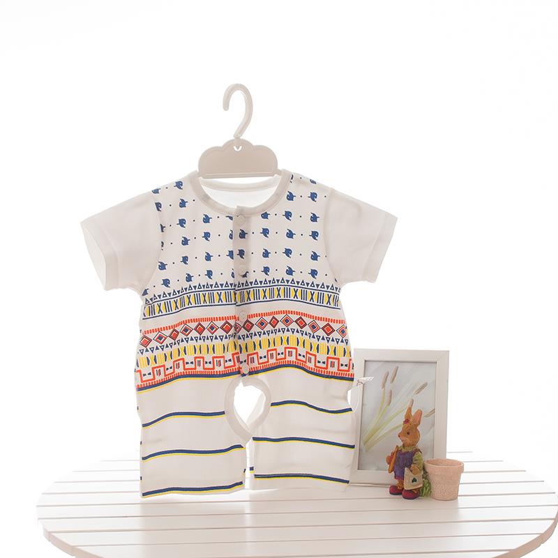 婴比迪夏季短袖连体衣婴儿薄款爬服-优惠25元包邮