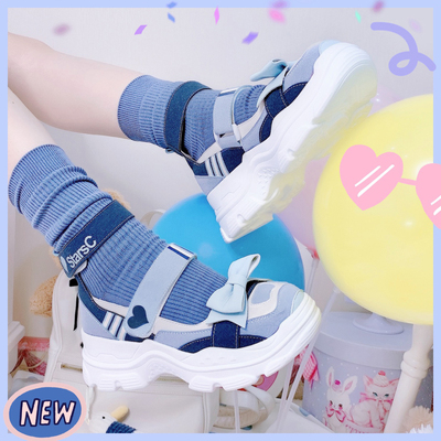taobao agent [In stock] parkour sweetheart lo running sandals star crown original lolita all-match student daily cute all-match