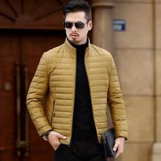 羽绒服男士外套2017冬季新款防寒服加厚帅气修身爸爸男装8820