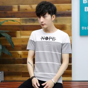 夏季上衣男士圆领半袖t恤潮流修身打底衫韩版修身男装短袖体恤362