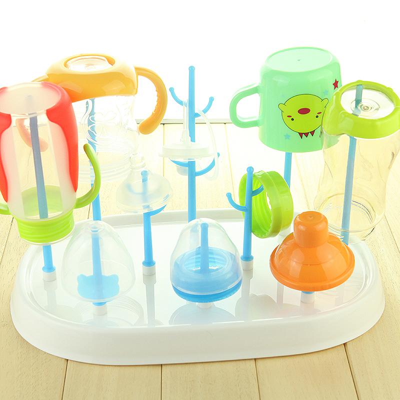奶瓶干燥架 奶瓶架 晾干架晾晒架抗菌婴儿宝宝奶瓶沥水架