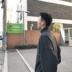Ông Fang inch mùa xuân chàng trai mới Hàn Quốc phiên bản của áo len lỏng bat tay áo quá khổ knit dày áo len nam