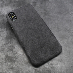 new style 50752 2e1b9 5 RUGGED Alcantara iPhone XS Max, iPhone XR, iPhone X / iPhone XS Phone  Cases Covers Alcantara Canvas Microfiber Hydrophobic Water Repellent  Microsoft ...