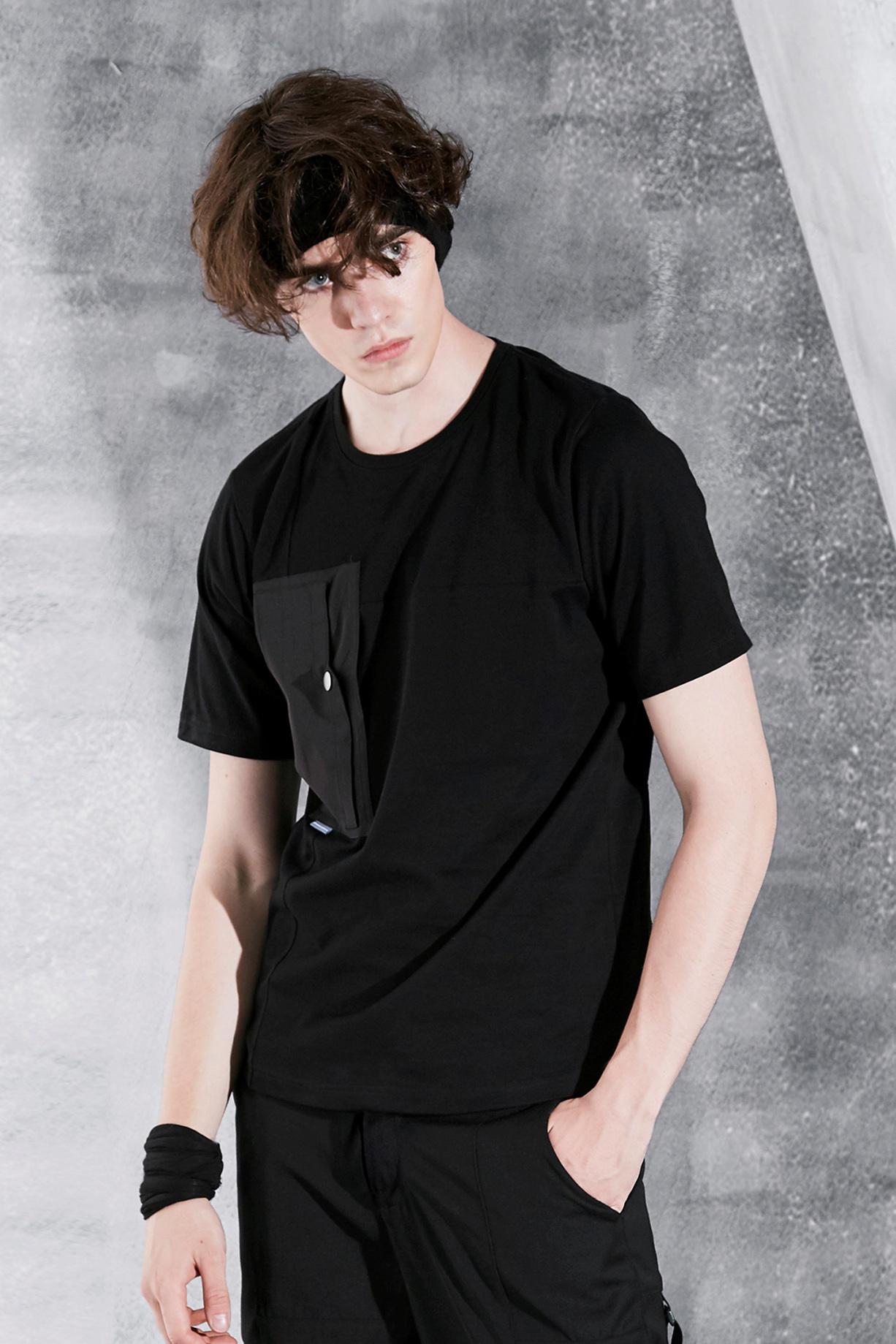 RL | REINDEE LUSION 17S/S 形功 大幅剪裁拼接多口袋T恤【黑】