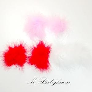 MBootylicious sexy lông ngực dán đồ trang sức feathers núm vú vui vẻ núm vú dán sử dụng lặp đi lặp lại nữ 6 màu sắc