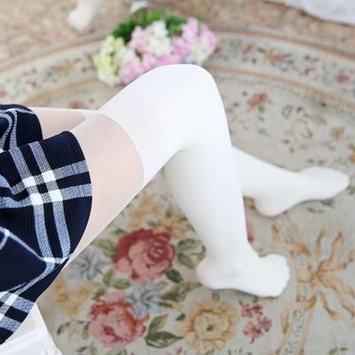 毛圈加厚假高筒连脚裤袜微压力显瘦假长筒过膝袜秋冬拼接打底袜子