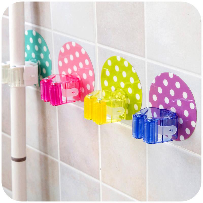 创意多功能厨房无痕壁挂拖把挂架扫把门后浴室强力吸盘免钉挂钩