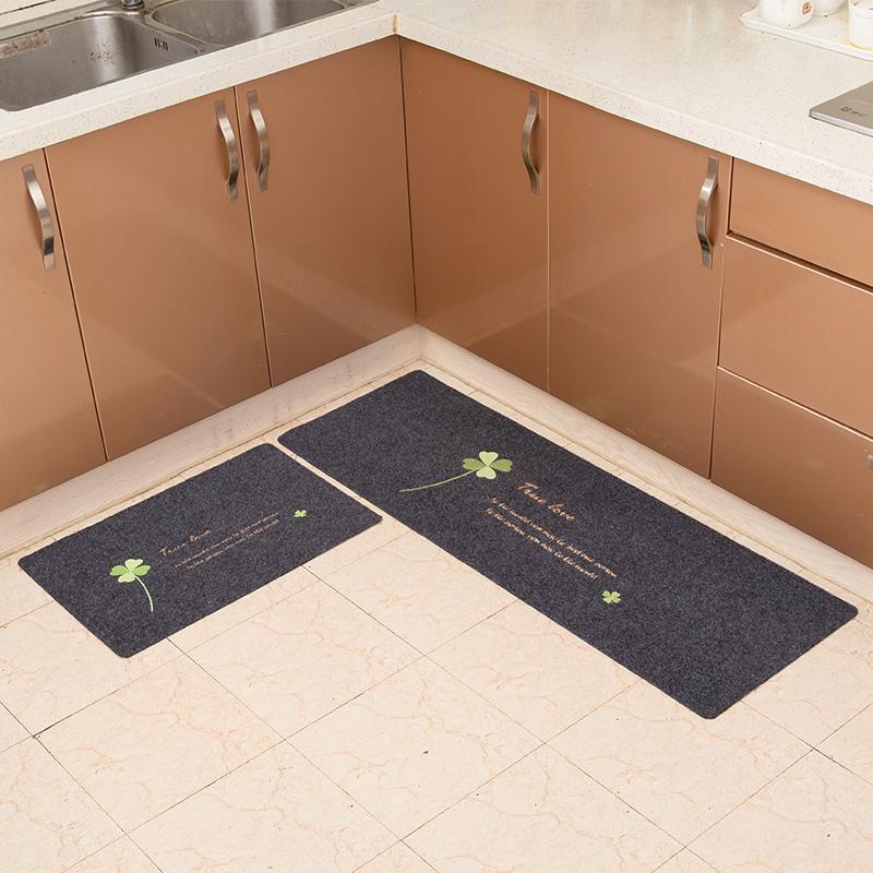 厨房地垫防滑防油长条家用餐厅吸水卫浴门口进门门垫长条推门地毯